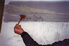 Батик мастер класс, роспись картины «Снежное поле» от Хелен Дуглас, 22 фото