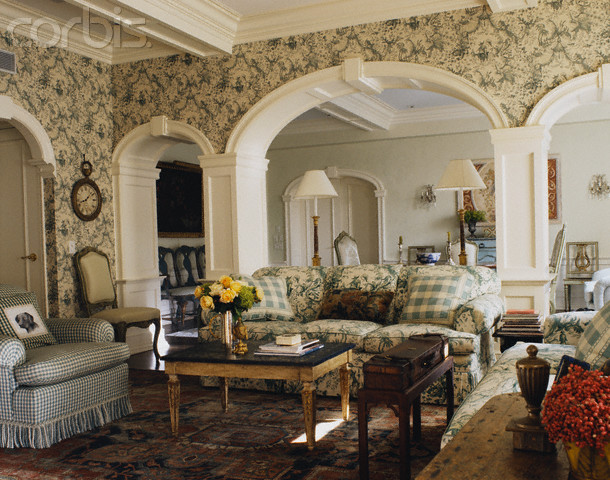 Living and Dining Rooms with Arched Doorways