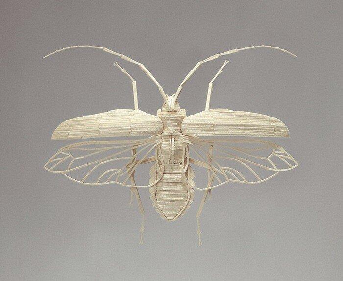 насекомые из спичек