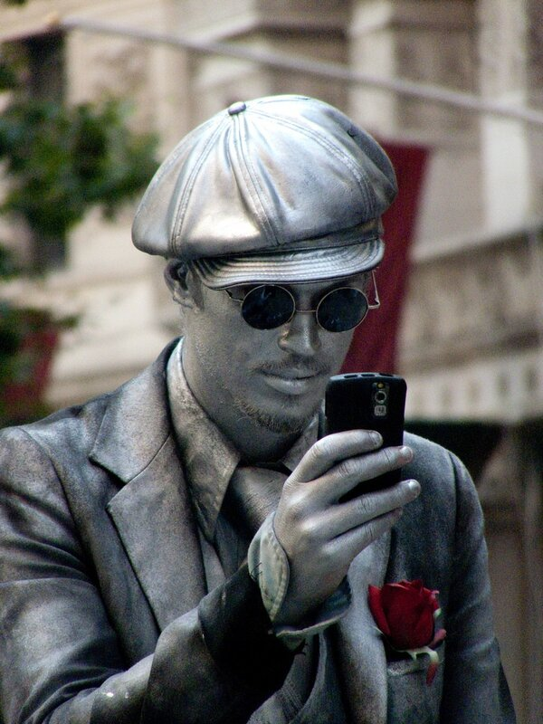 человек статуя