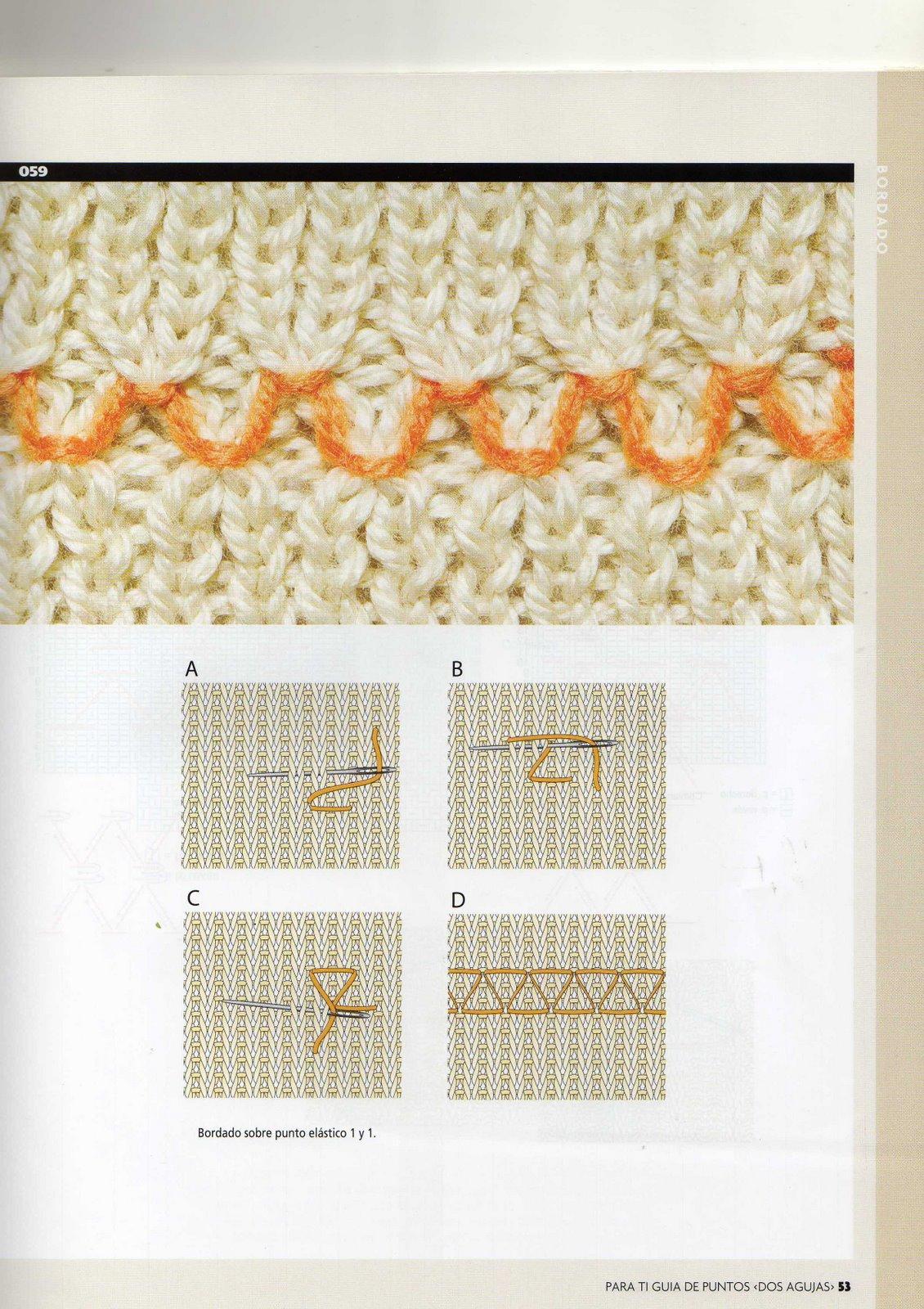Вышивки по трикотажу петля в петлю