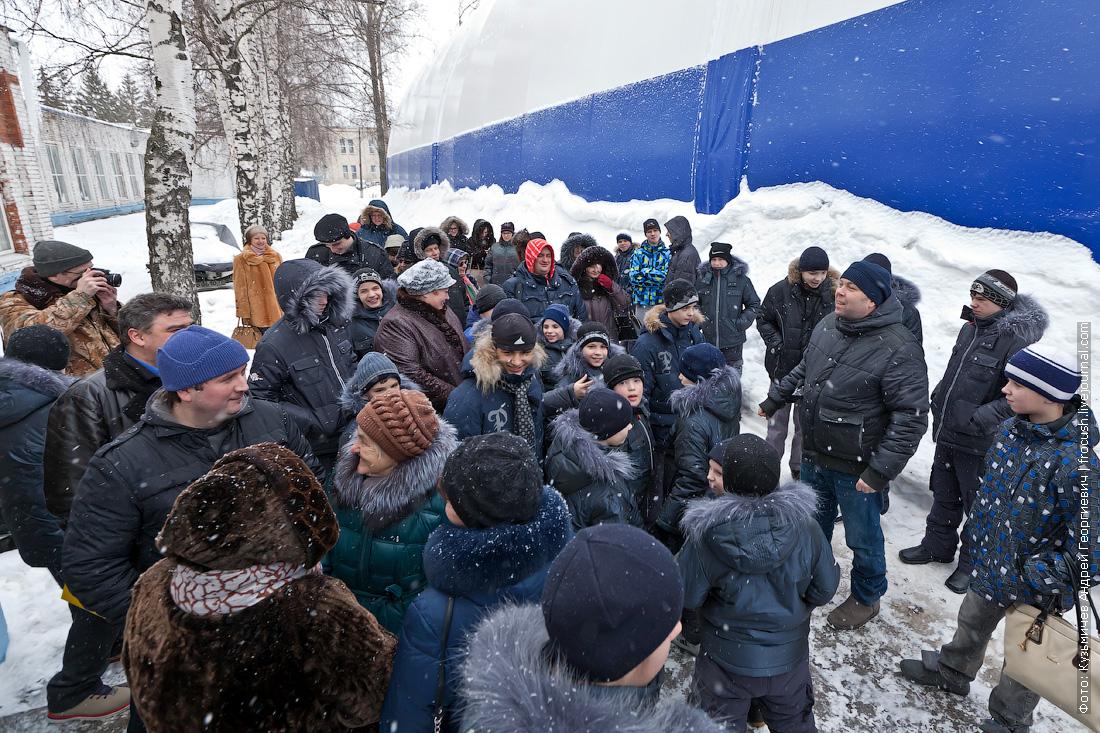 воспитанники Кимрской школы-интерната для детей-сирот в гостях в Хлебниковском затоне