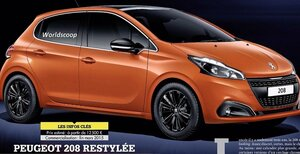 В сеть попали снимки нового хэтчбека Peugeot 208