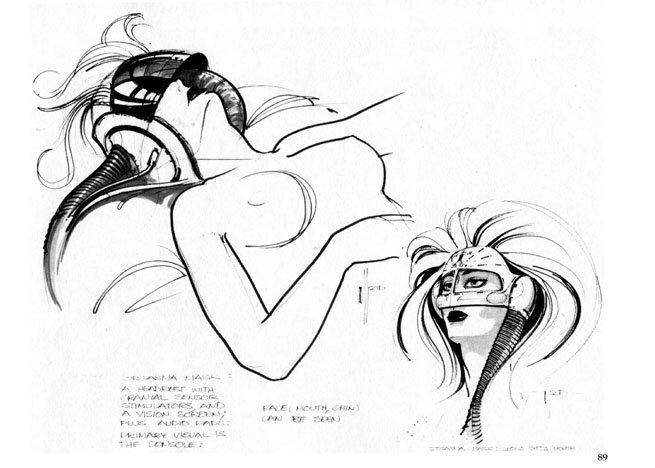КИБЕРМУВИРАРИТЕТ - Наброски для `Бегущего по лезвию бритвы` / SketchBook Blade Runner. 100 pages.