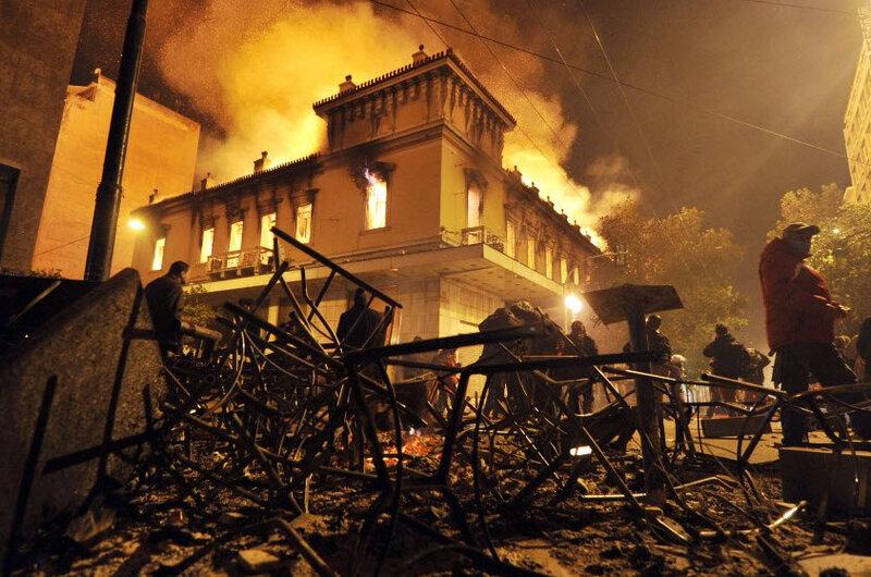 Массовые беспорядки в Греции