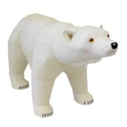 Журнал Бумажная модель-Белый медведь