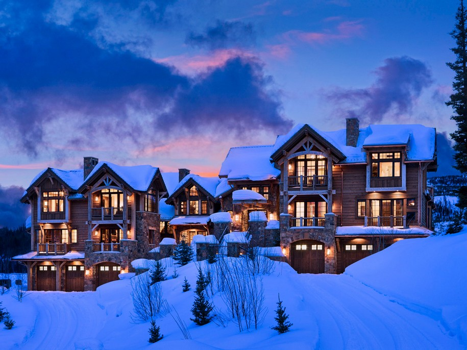 Slopeside Chalets на горнолыжном курорте в Монтане