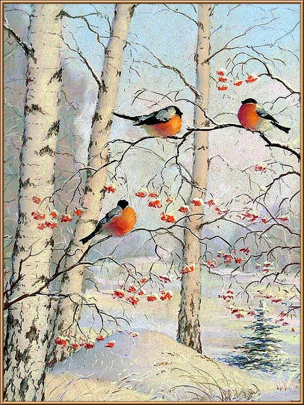 Картинки русский лес зимой