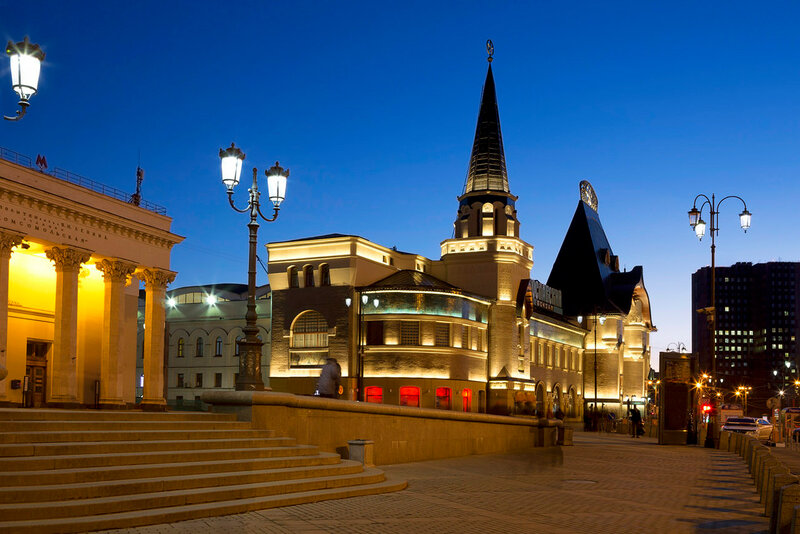 Москва. Здание Ярославского вокзала.