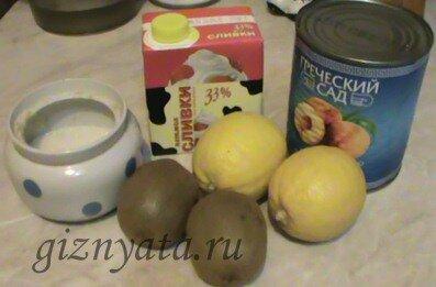 блинчики с персиками