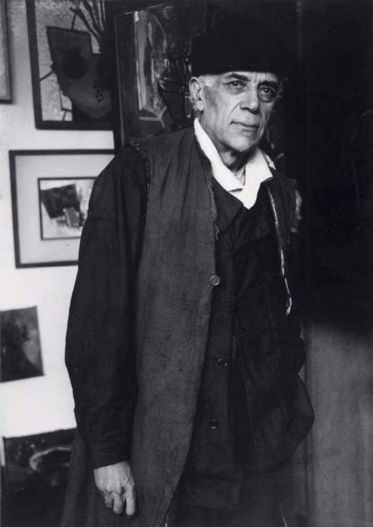 1935. Жорж Брак в своей мастерской, тупик Анри Руссо, Париж