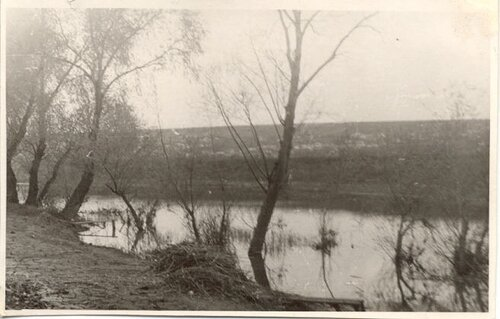 Река Миус. Впереди село Ряженое