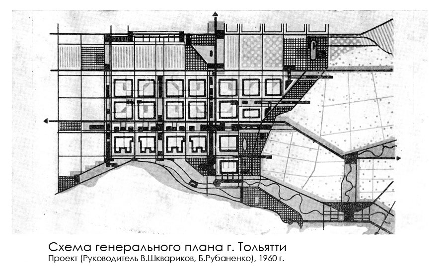 Генплан Тольятти, 1960 г, план