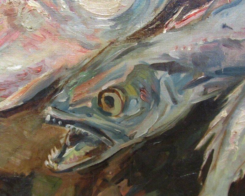 Коровин. Натюрморт с рыбами. 1930