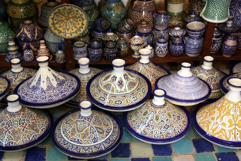Марокканская керамика. ТАДЖИНЫ