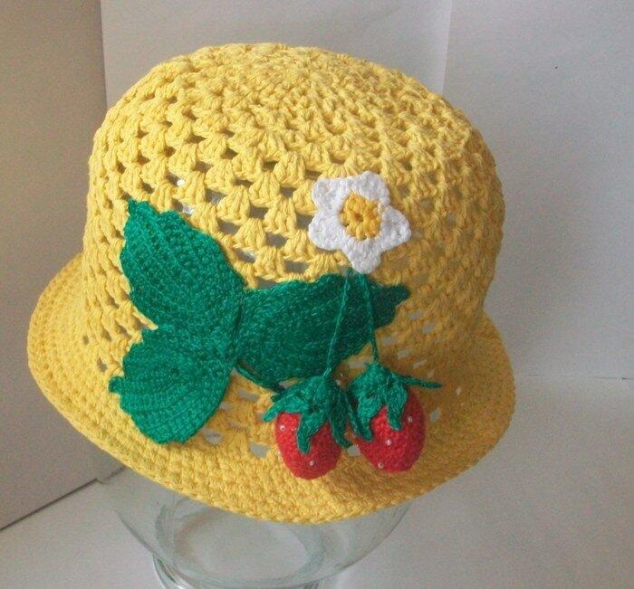 Вяжем шляпки для деток фото и схема