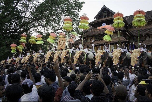 Триссур Пурам, фестиваль слонов