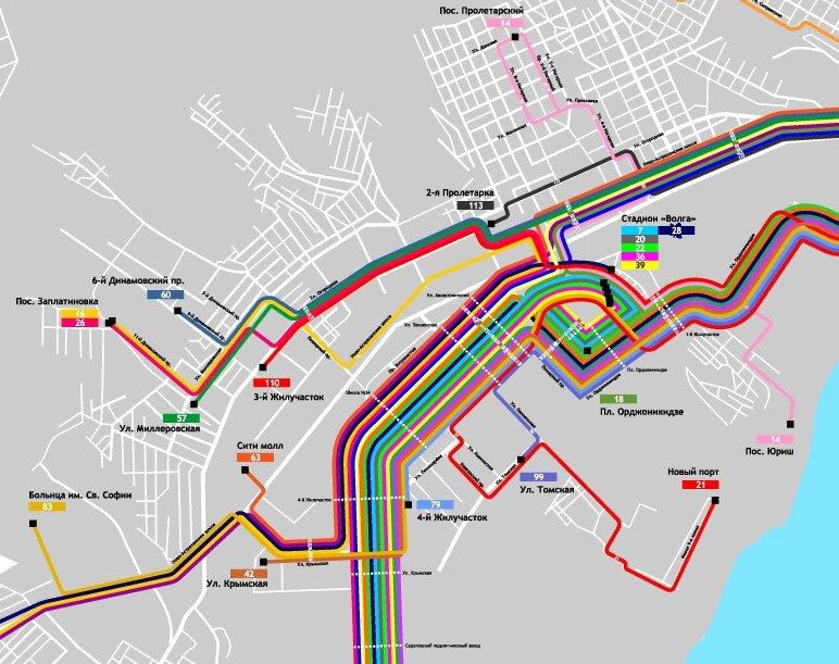 Сегодня выложил версию 1.5 автобусной схемы Саратова.  Внесены уточнения и добавлен маршрут 113,которого не было в...