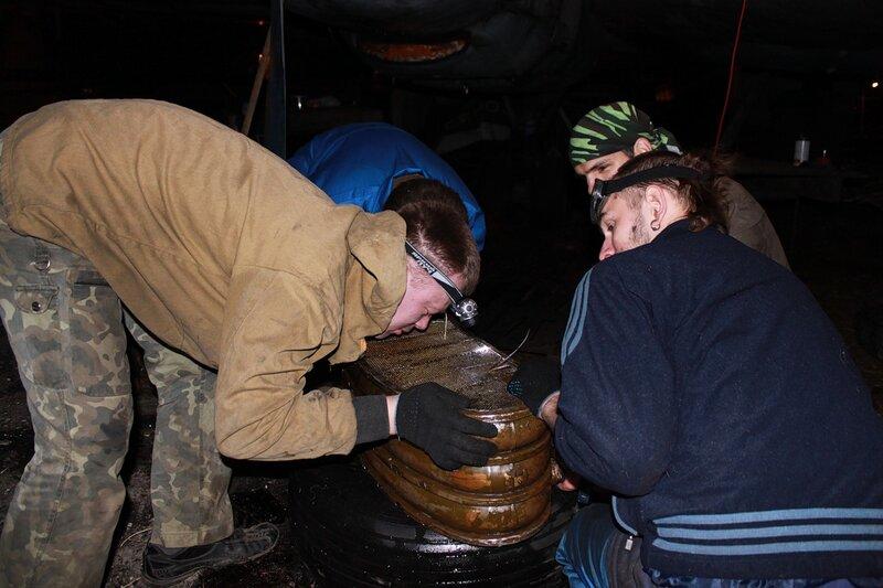 Поиск и запайка течей маслорадиатора