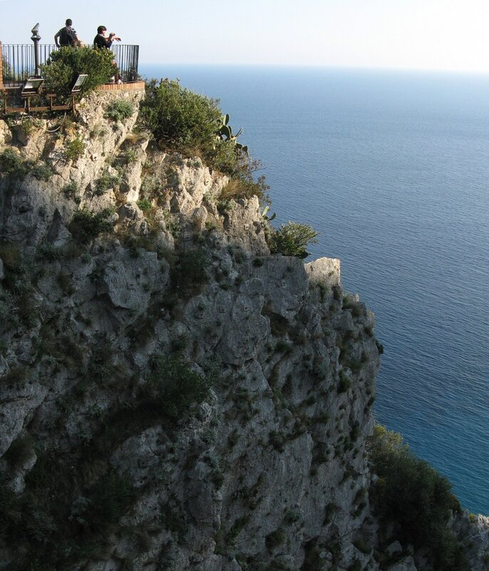 Капри. Виды с террасы садов Августа (Terrazza dei Giardini di Augusto)