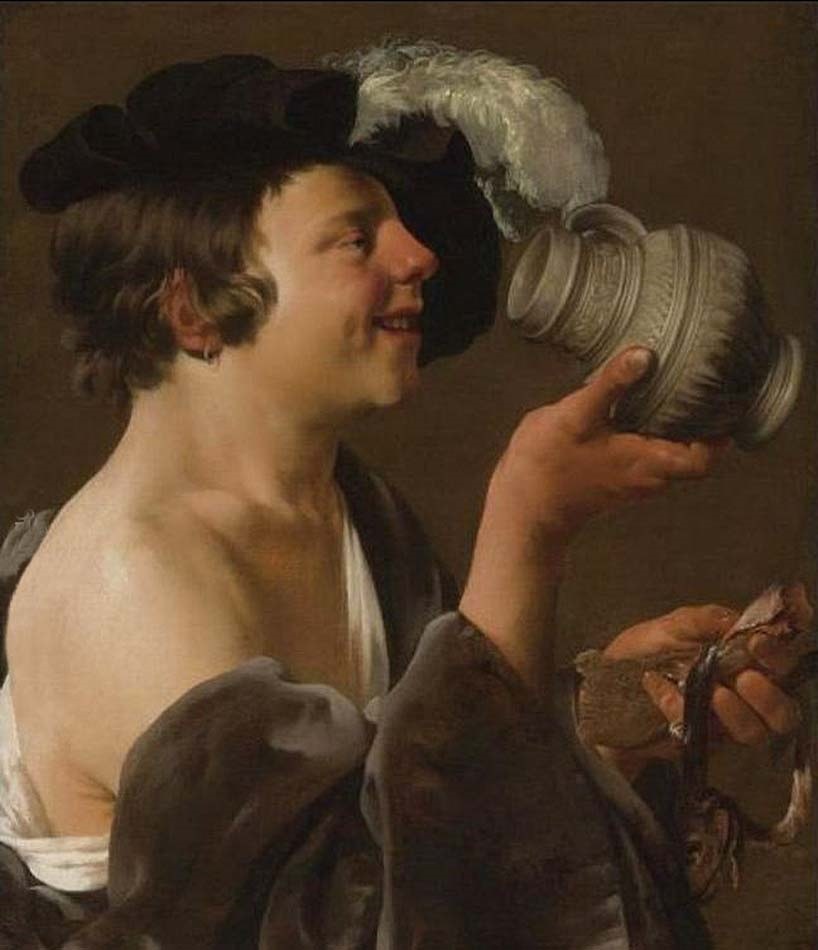 Boy In-Profile, Drinking From A Tankard