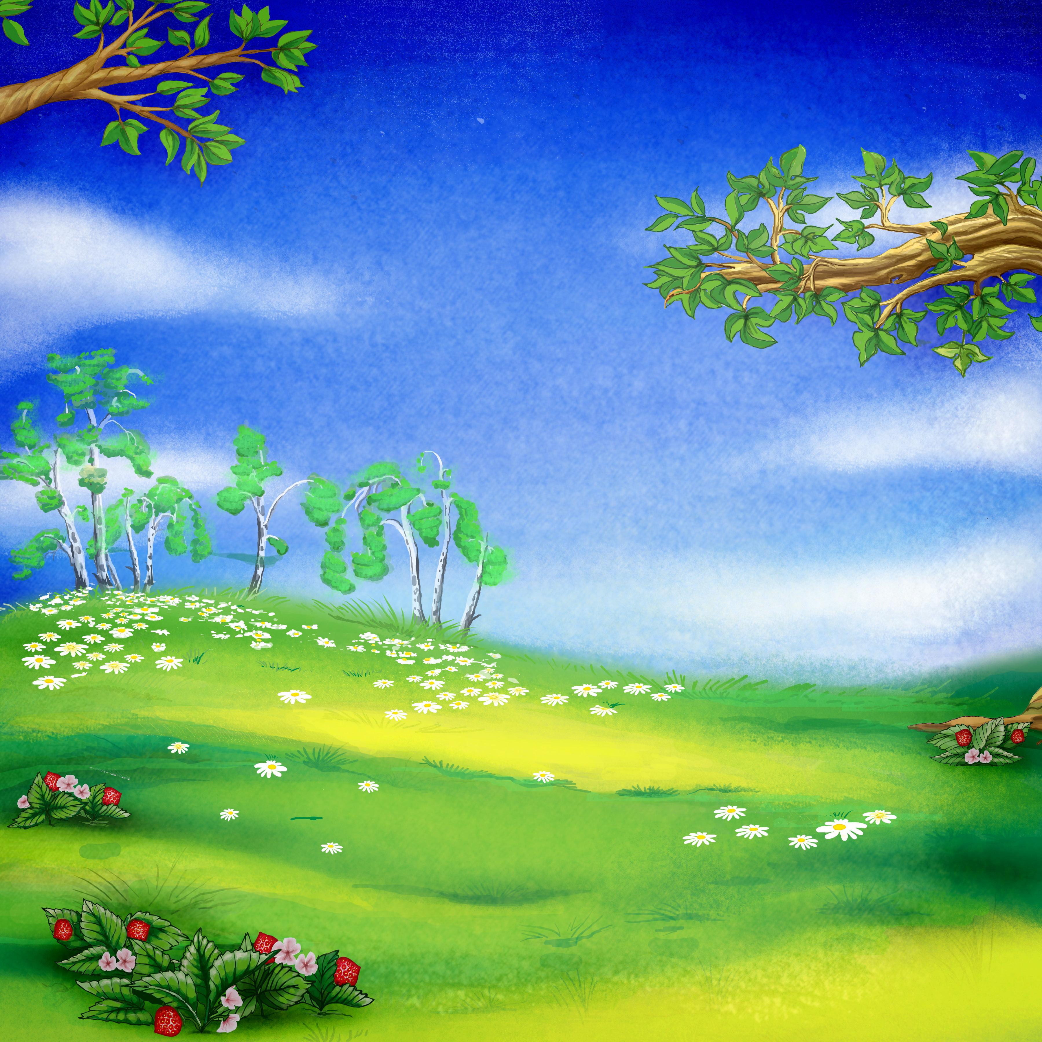 Весенняя полянка картинка для детей