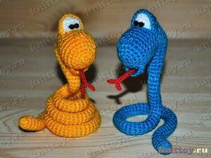 Вяжем крючком змей мастер класс.