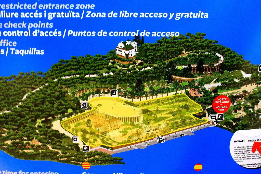 Парк гуэль схема парка