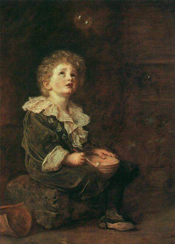 Millais, Sir John Everett (1829-96) Bubbles, 1886 oil on canvas) Elida Gibbs Collection, London, UK