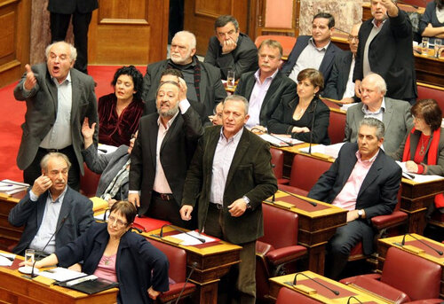 Дебаты в Парламенте Греции 2012