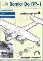 Книга Бомбардировщик Dornier Do17P-1 «Летающий карандаш» (бумажная модель)