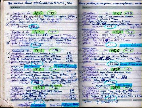 Дневник похудения купить в минске