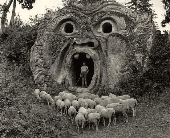 The 'Mostro' at Bomarzo, 1952