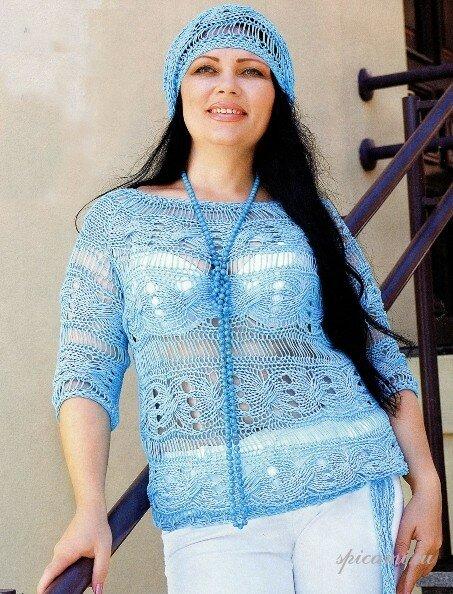 схем вязания модной одежды