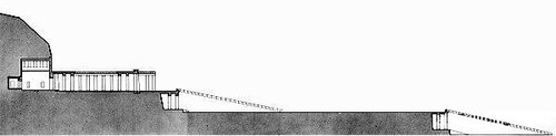 Храм царицы Хатшепсут, разрез