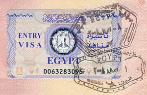 Марка визы в Егиепт
