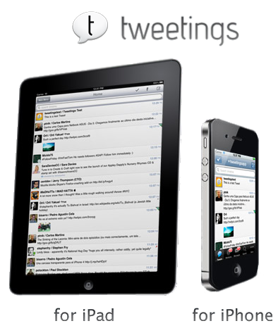 Tweetings for Twitter [v4.3.0 (SD) + v4.2.0 (HD), Социальные сети, iOS 3.0, ENG]