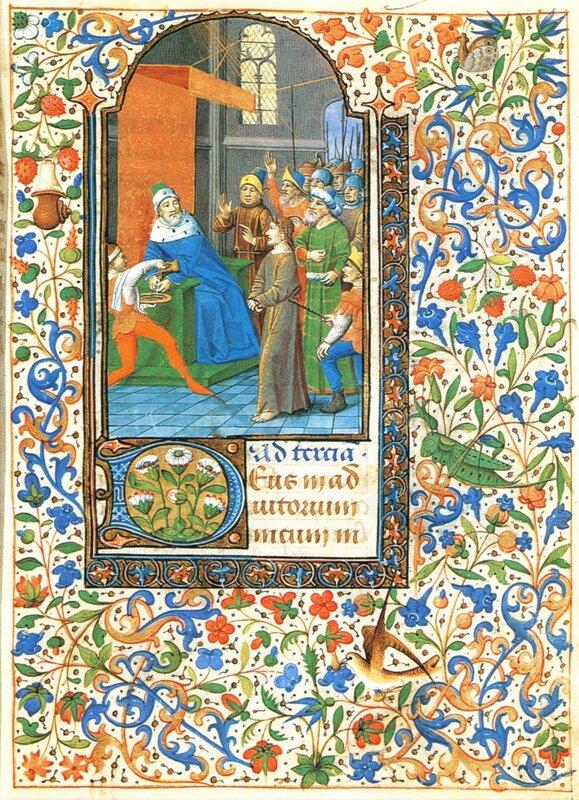 Книга часов из Ленинки № 446 - Христос перед Пилатом