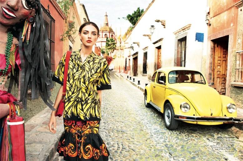 модель Алина Байкова / Alina Baikova, фотограф Nicole Bentley