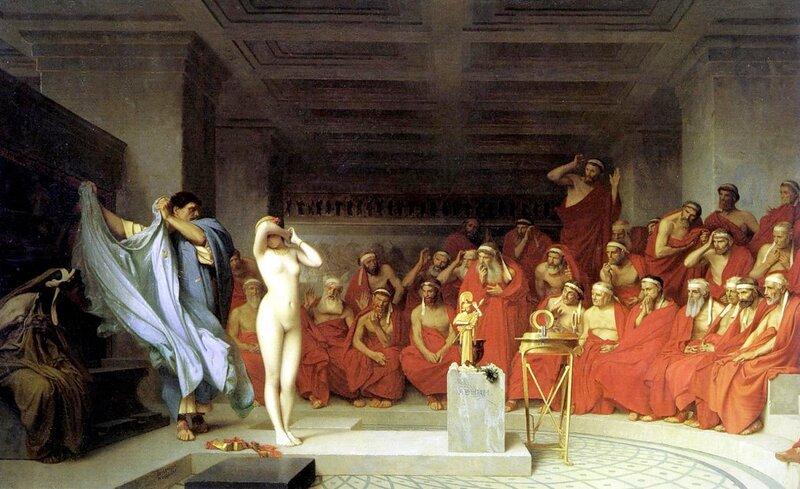 «Фрина перед ареопагом»,1861, Ж.-Л.Жером,