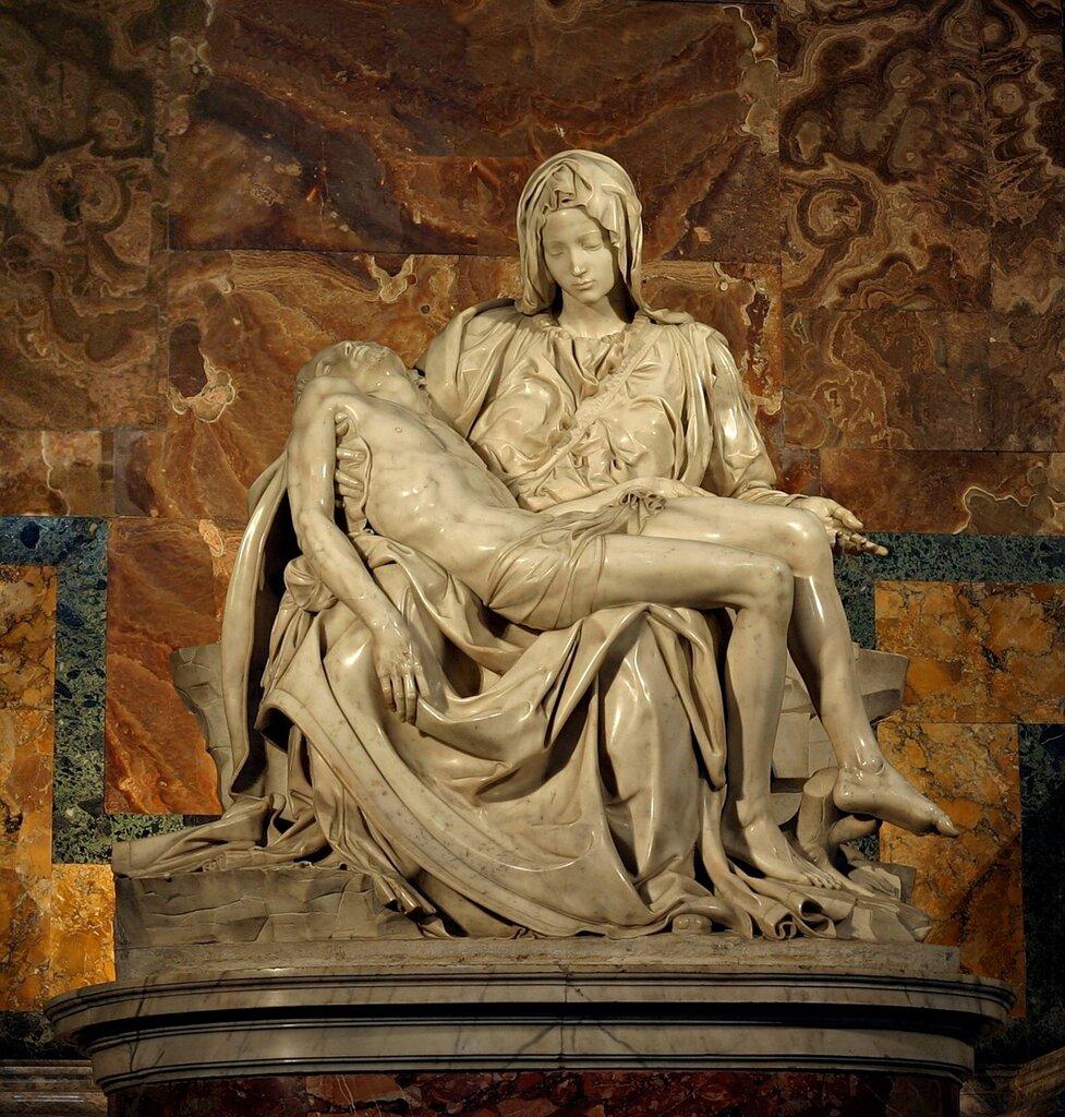 Микеланджело. Пиета.1498-99г. собор св. Петра, город Ватикан.
