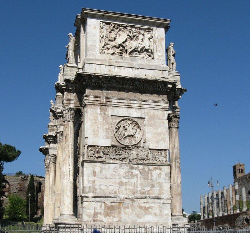 Рим. Триумфальная арка Константина (Arco di Costantino)