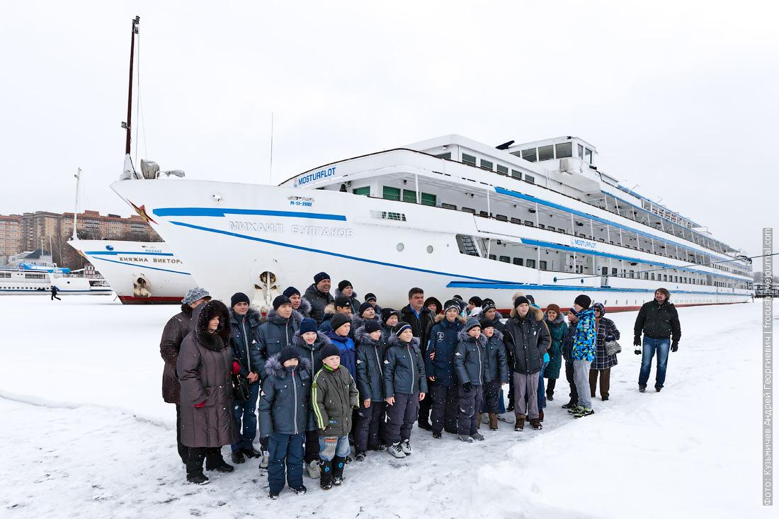 экскурсия как зимуют теплоходы