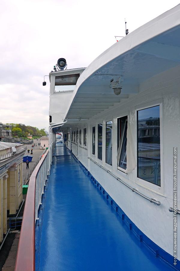 Шлюпочная палуба, правый борт теплохода «Н.А.Некрасов»