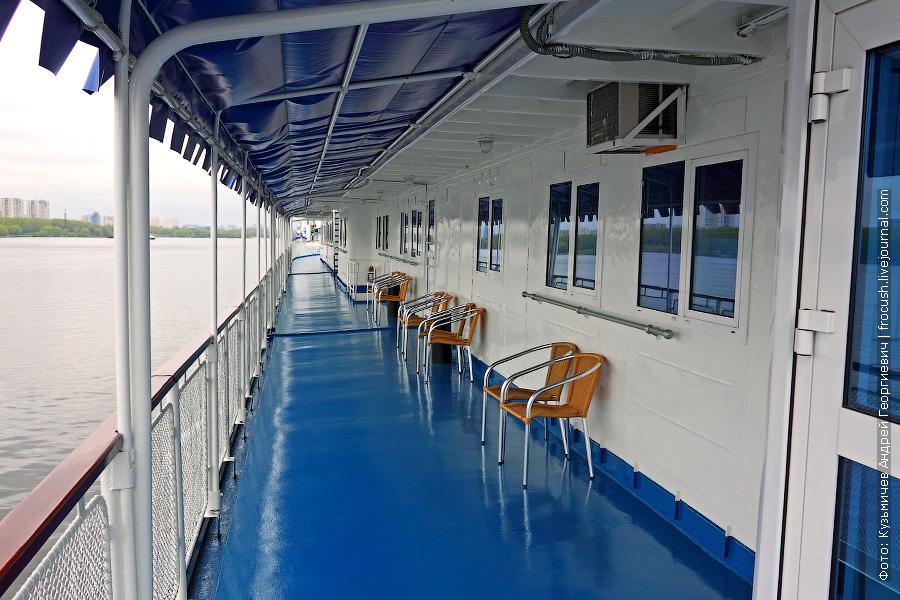 Шлюпочная палуба, левый борт теплохода «Н.А.Некрасов»