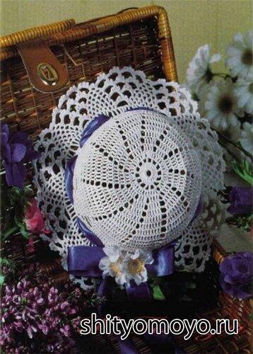 Вязание крючком схемы и модели: голубая шляпка