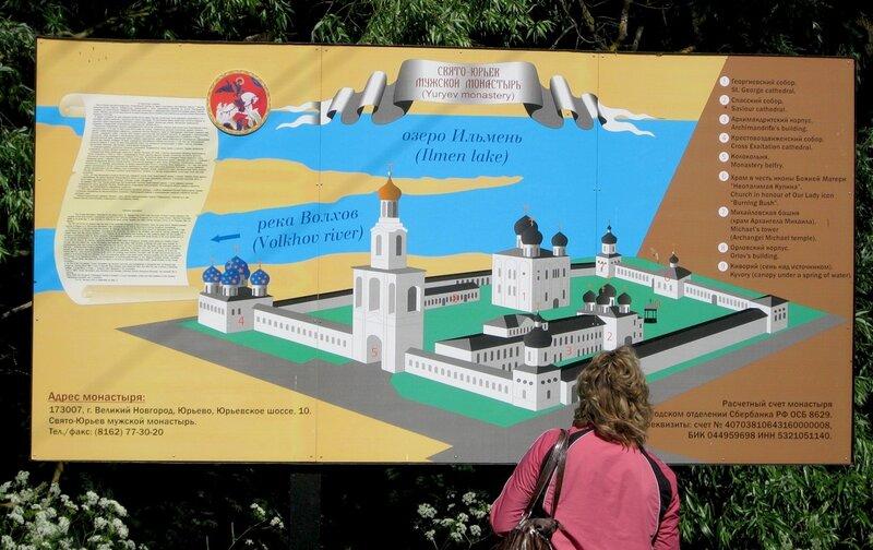 Что посмотреть в Новгороде фото.  Схема построек в Юрьевом монастыре.