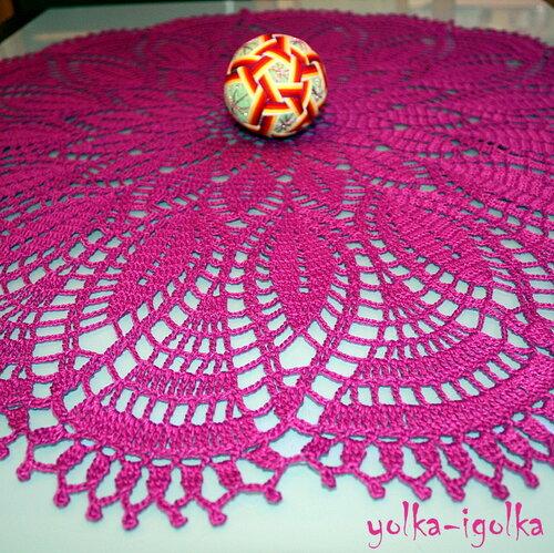Фиолетовая салфетка