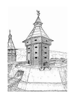 Графическая реконструкци башни кремля
