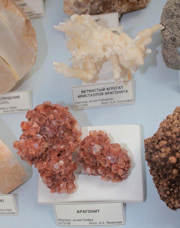 Ветвистый агрегат кристаллов арагонита; арагонит